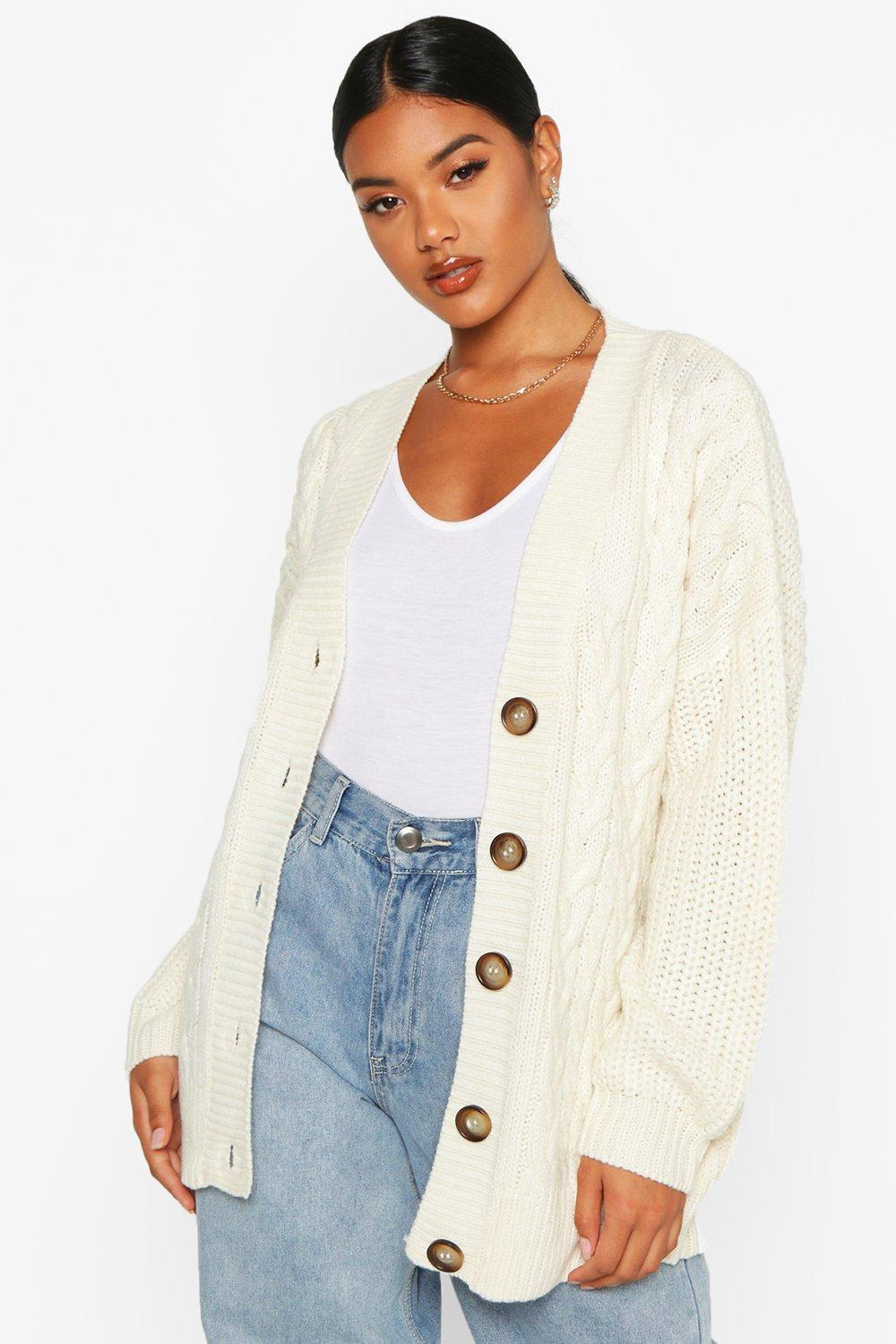 button cardigan